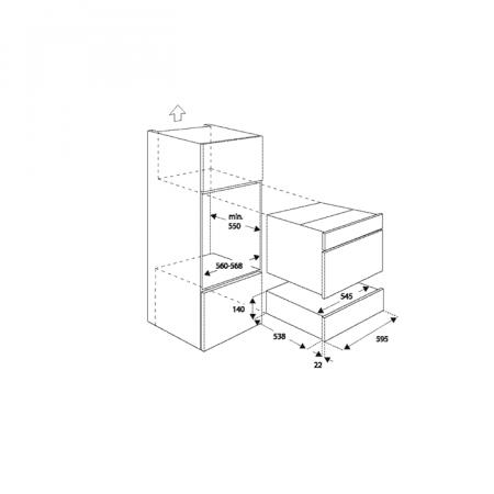 Bertazzoni Sertar termic 60 cm design Neutral [1]