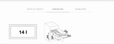 Blanco Singolo selector de resturi menajere din plastic2