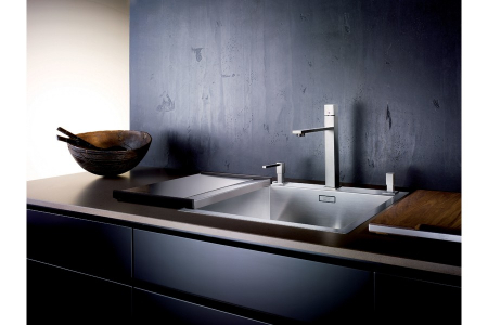 Blanco tocator din lemn masiv de nuc cu mâner din oțel inoxidabil 420 x 362 mm [4]