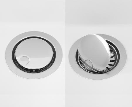 Chiuveta bucatarie granit CookingAid Infinity NF8610 Neagra / Black Metal quartz reversibila stanga/dreapta cu picurator + accesorii montaj [1]