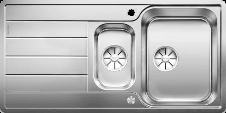 Chiuveta BLANCO CLASSIMO 6 S-IF reversibila cu excentric, inox periat [3]