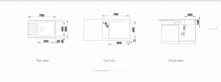 Chiuveta Blanco LEMIX XL 6S- IF reversibila, inox periat si excentric [2]