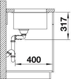 Chiuveta bucatarie BLANCO SUBLINE 480/320-U Silgranit, InFino™ integrat [2]