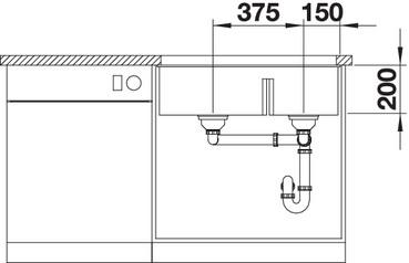 Chiuveta bucatarie BLANCO SUBLINE 480/320-U Silgranit, InFino™ integrat [3]