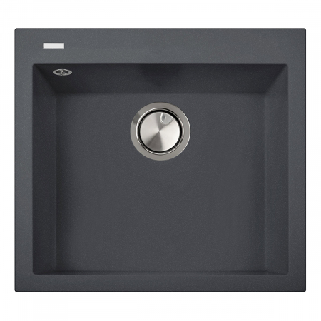 Chiuveta bucatarie granit CookingAid Cube ON5610 Gri Beton inchis / Ciment / Concrete quartz + accesorii montaj [0]