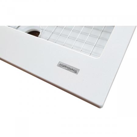 Chiuveta bucatarie granit CookingAid Cube ON7610 Alba / Polar White cu montaj sub blat + accesorii instalare [5]