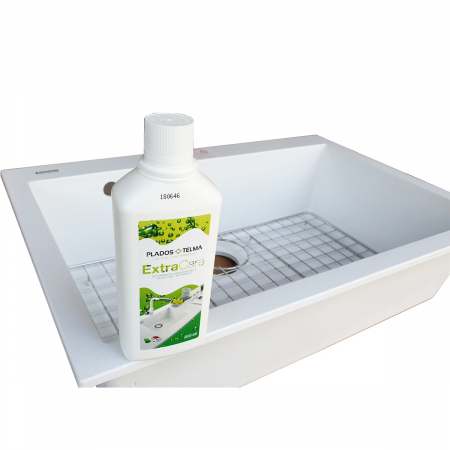 Chiuveta bucatarie granit CookingAid Cube ON7610 Alba / Polar White cu montaj sub blat + accesorii instalare [6]