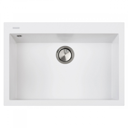 Chiuveta bucatarie granit CookingAid Cube ON7610 Alba / Polar White cu montaj sub blat + accesorii instalare [2]