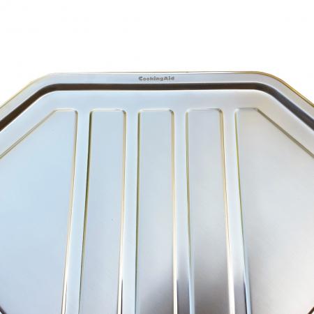 Chiuveta bucatarie cu 2 cuve inox dubla CookingAid KEPPLER BB pe colt reversibila stanga/dreapta cu picurator + accesorii montaj7