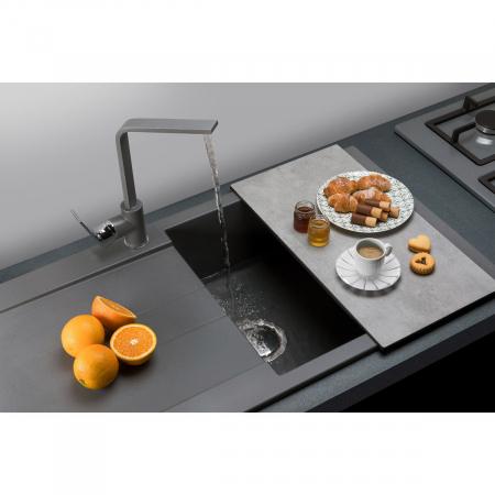 Chiuveta bucatarie granit CookingAid Amanda AM9910 Neagra Antracit reversibila [0]
