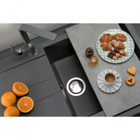 Chiuveta bucatarie granit CookingAid Amanda AM9910 Neagra Antracit reversibila [2]