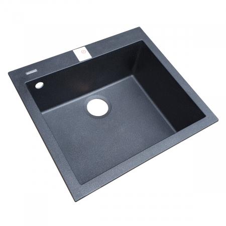 Chiuveta bucatarie granit CookingAid Cube ON5610 Neagra / Black Metal quartz + accesorii montaj8