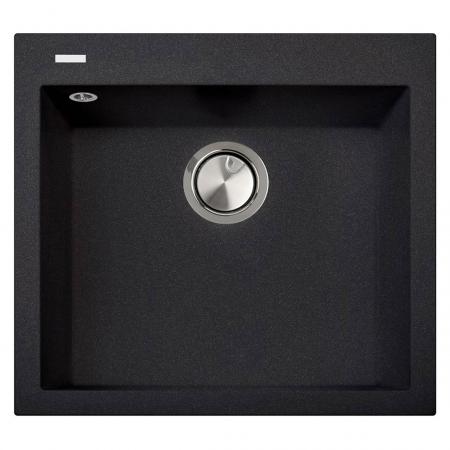 Chiuveta bucatarie granit CookingAid Cube ON5610 Neagra / Black Metal quartz + accesorii montaj0