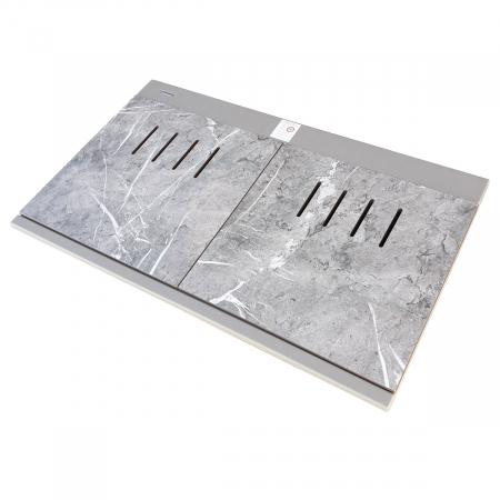 Chiuveta bucatarie granit dubla cu 2 cuve CookingAid Kinga LX8620 Maro Trufa / Truffle + accesorii montaj [11]