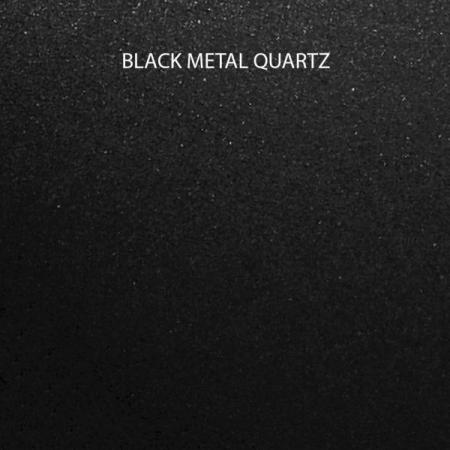 Chiuveta bucatarie granit dubla cu 2 cuve CookingAid Kinga LX8620 Neagra / Black Metal Quartz + accesorii montaj [11]