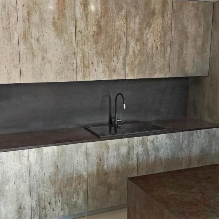 Chiuveta bucatarie granit dubla cu 2 cuve CookingAid Kinga LX8620 Neagra / Black Metal Quartz + accesorii montaj [12]