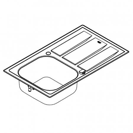 Chiuveta bucatarie Grohe K400+ din inox, reversibila cu excentric [3]