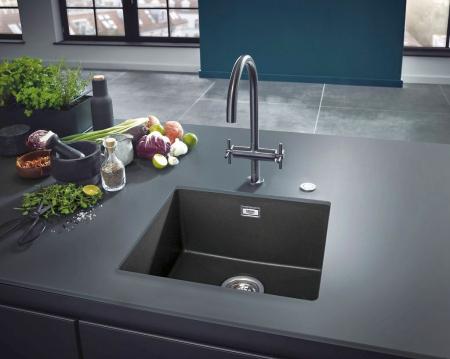 Chiuveta bucatarie Grohe K700, 560X510, o cuva, granit black sau grey [4]