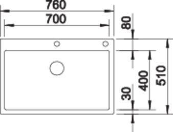Chiuveta bucatarie inox Blanco Claron 700 IF/A InFino cu PushControl [3]