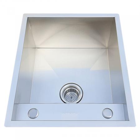 Chiuveta bucatarie inox CookingAid INVISIBLE DEEP cu baterie telescopica integrata, scurgator vase/paste/fructe, tocator sticla temperizata, dozator detergent + accesorii montaj [9]