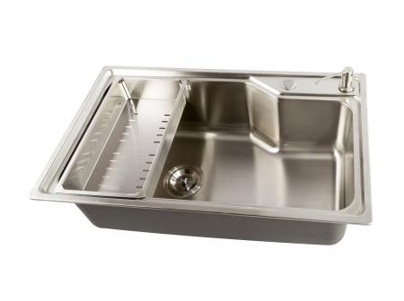 Chiuveta bucatarie inox CookingAid ATHENA XL si accesorii montaj3