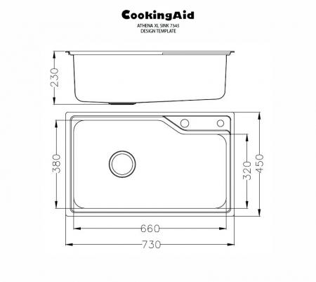 Chiuveta bucatarie inox CookingAid ATHENA XL si accesorii montaj7