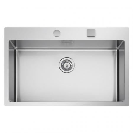 Chiuveta bucatarie inox CookingAid BOX LUX 76 cu ventil automat scurgere + accesorii montaj2