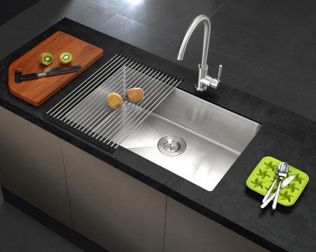 Chiuveta bucatarie inox CookingAid HERA LARGE cu accesorii montaj [0]