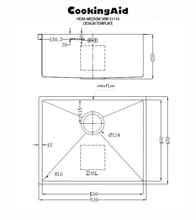 Chiuveta bucatarie inox CookingAid HERA MEDIUM si accesorii [10]