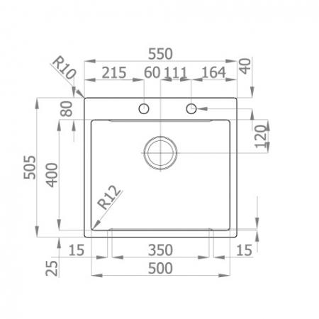 Chiuveta bucatarie inox CookingAid LUX STEP 57 + Bonus: tocator Versus din ABS reversibil in scurgator vase + ventil automat scurgere + accesorii montaj11