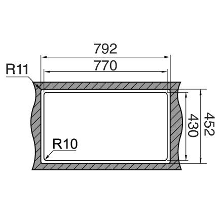 Chiuveta bucatarie inox CookingAid LUX STEP 74 + Bonus: tocator Versus din ABS reversibil in scurgator vase si accesorii montaj [2]