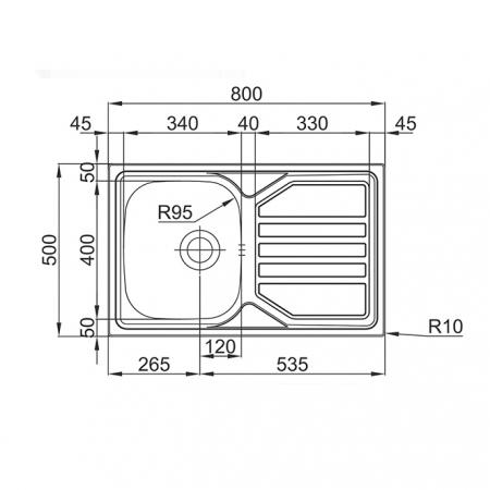 Chiuveta bucatarie inox CookingAid OKIO LINE 80 FLAT PL reversibila stanga/dreapta cu picurator + accesorii montaj9