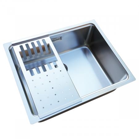 Chiuveta bucatarie inox CookingAid UNA 50  cu scurgator EASY DRAINER [1]