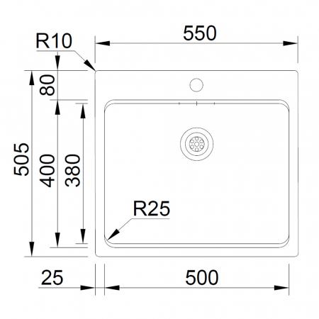 Chiuveta bucatarie inox CookingAid UNA 57 + Bonus: tocator Versus din ABS reversibil in scurgator vase + accesorii montaj [5]