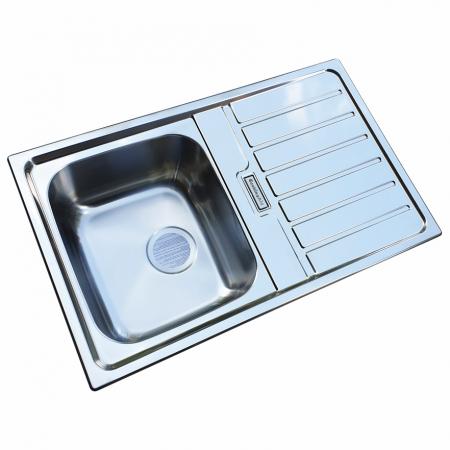 Chiuveta bucatarie inox CookingAid URBAN 80B reversibila stanga/dreapta cu picurator + accesorii montaj2