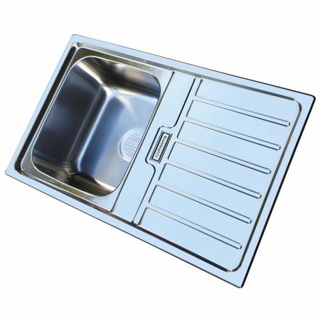 Chiuveta bucatarie inox CookingAid URBAN 80B reversibila stanga/dreapta cu picurator + accesorii montaj3