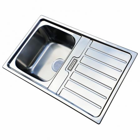 Chiuveta bucatarie inox CookingAid URBAN 80B reversibila stanga/dreapta cu picurator + accesorii montaj4