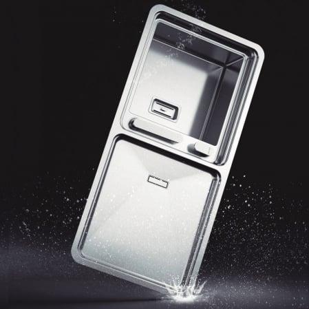 Chiuveta bucatarie inox CookingAid VISION 100 cu baterie telescopica integrata, tocator sticla temperizata + accesorii montaj [6]