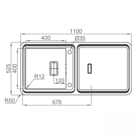 Chiuveta bucatarie inox CookingAid VISION 100 cu baterie telescopica integrata, tocator sticla temperizata + accesorii montaj [8]