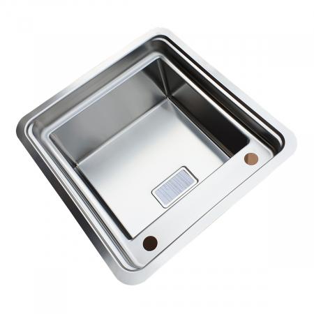 Chiuveta bucatarie inox CookingAid VISION 40 cu baterie telescopica integrata, tocator sticla temperizata + accesorii montaj ideala pentru montaj sub geam [4]