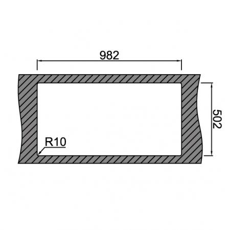 Chiuveta bucatarie inox CookingAid XERON 105 LEFT cu ventil scurgere dreptunghiular automat si accesorii montaj6