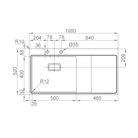 Chiuveta bucatarie inox CookingAid XERON 105 RIGHT cu ventil scurgere dreptunghiular automat si accesorii montaj [2]