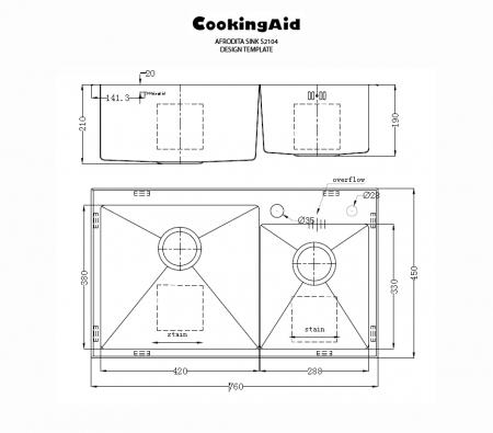 Chiuveta bucatarie inox dubla CookingAid AFRODITA [1]