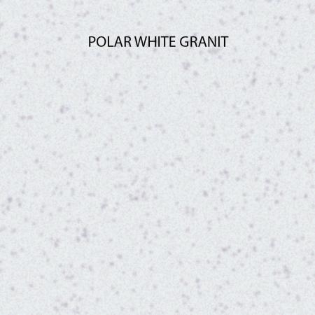 Chiuveta bucatarie rotunda granit CookingAid Naiky NK5110 Alba / Polar White + accesorii montaj3