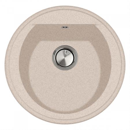 Chiuveta bucatarie rotunda granit CookingAid Naiky NK5110 Bej Pigmentat / Avena + accesorii montaj [2]