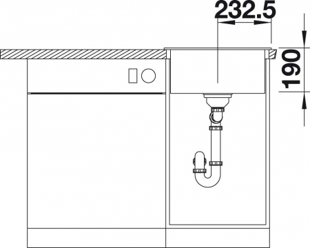 Chiuveta de bucatarie Blanco Dalago 45 silgranit [1]