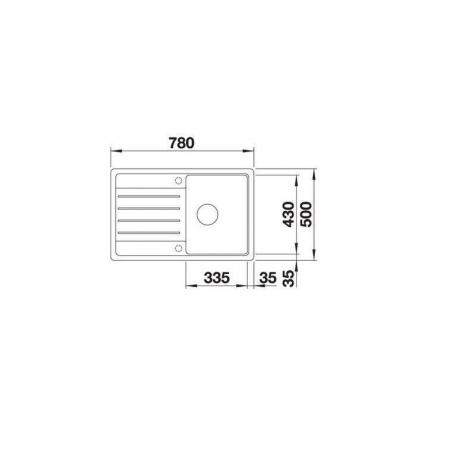 Chiuveta de bucatarie BLANCO ZIA 40S [4]