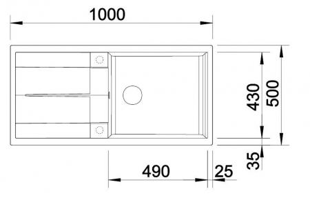 Chiuveta de bucatarie BLANCO METRA XL 6 S [6]