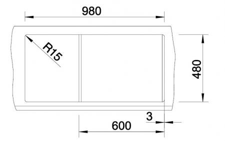 Chiuveta de bucatarie BLANCO METRA XL 6 S [5]