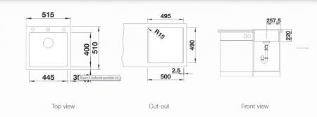 Chiuveta de bucatarie Blanco Pleon 5 silgranit  cu excentric [1]